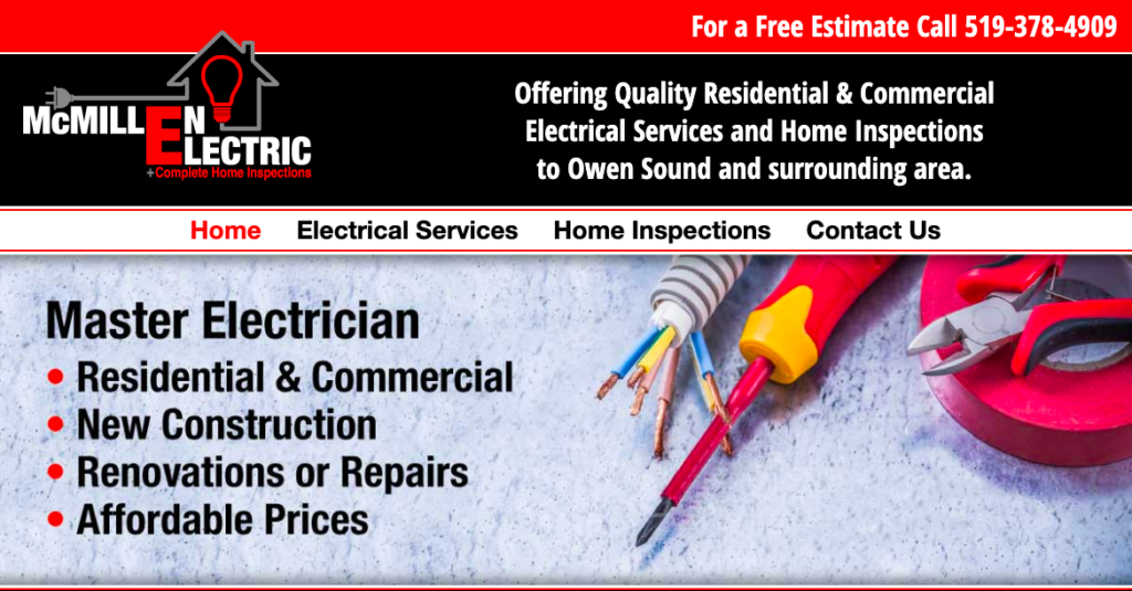 Hire an Owen Sound electrician or home inspector