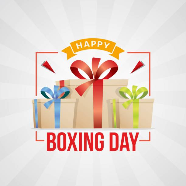 Boxing day with 3 gift boxes