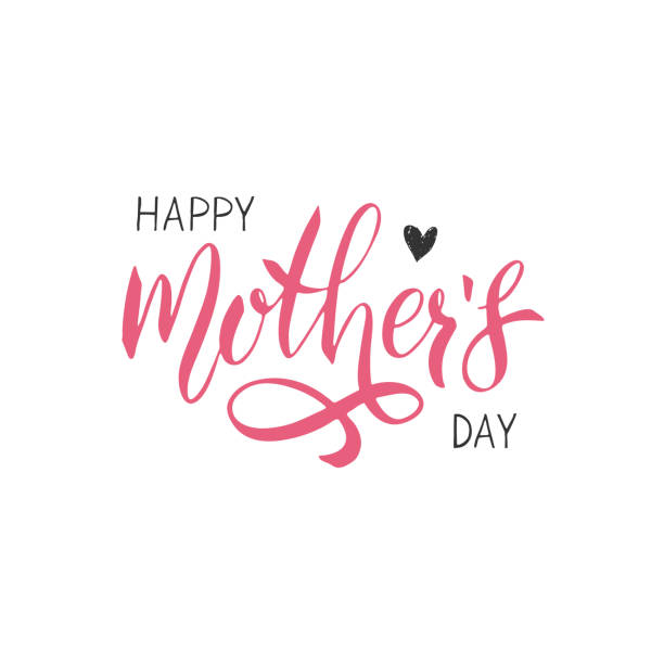 Happy Mothers Day lettering. Handwritten typography. Calligraphy text.