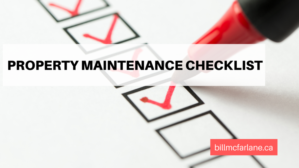 bill mcfarlane property maintenance checklist